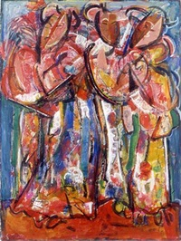 kabuki dancers by david driskell