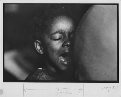 ellen crying, harlem, new york by gordon parks