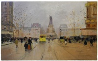 place de la republique á paris by edouard léon cortès
