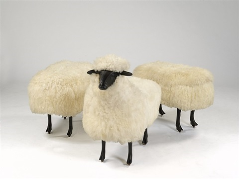 moutons de laine (group of 3) by françois-xavier lalanne