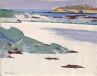 the shore at calva, iona by francis campbell boileau cadell
