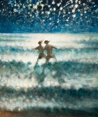 in to the sea at night ii by bill jacklin