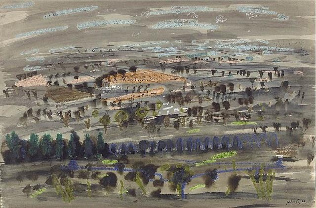 landscape near waddesdon by john piper