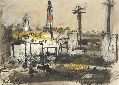 lighthouse, portland bill by john piper
