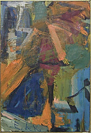 man in a whirl by elaine de kooning