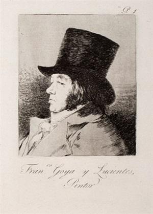 francisco goya y lucientes, painter, (1st edition) by francisco de goya