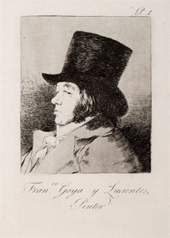 francisco goya y lucientes, painter, (1st edition) by francisco de goya