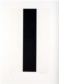 untitled etching #2 by barnett newman