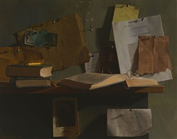still life with kant and descartes by jacob collins