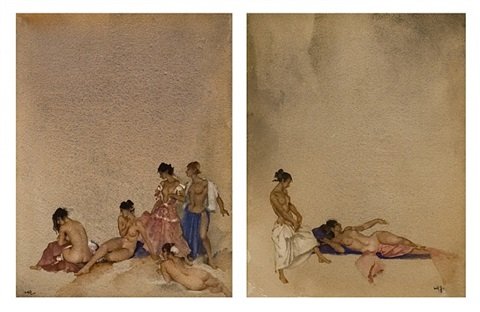 acquiescent angels & mutinous maids by william russell flint