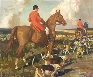 october morning, cornwall by sir alfred munnings