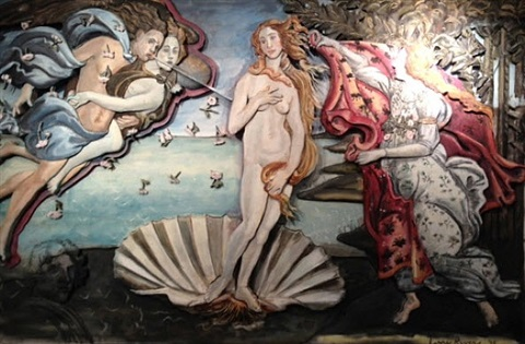 birth of venus at botticelli by larry rivers
