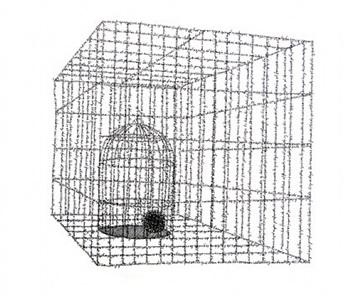 fardo (dos jaulas) by johanna calle