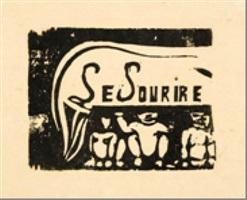 le sourire (trois figures et un renard) by paul gauguin