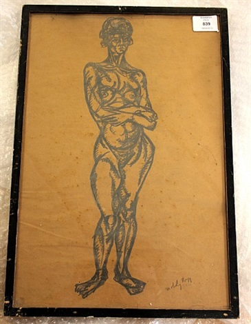 standing nude by lászló moholy-nagy