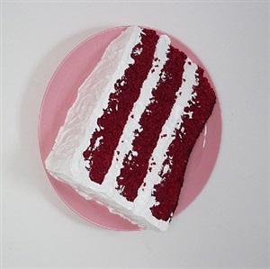 red velvet cake slice by peter anton