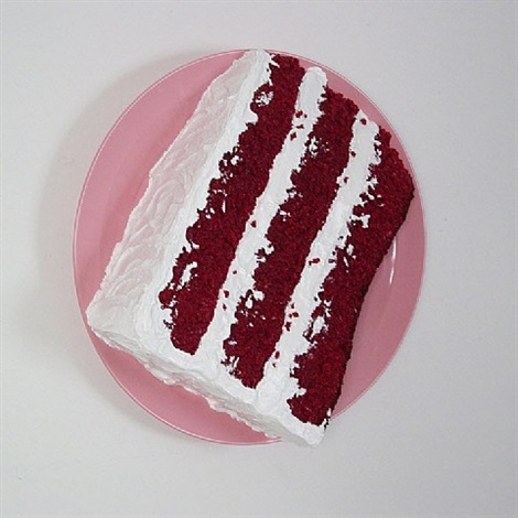 red velvet cake slice by peter anton