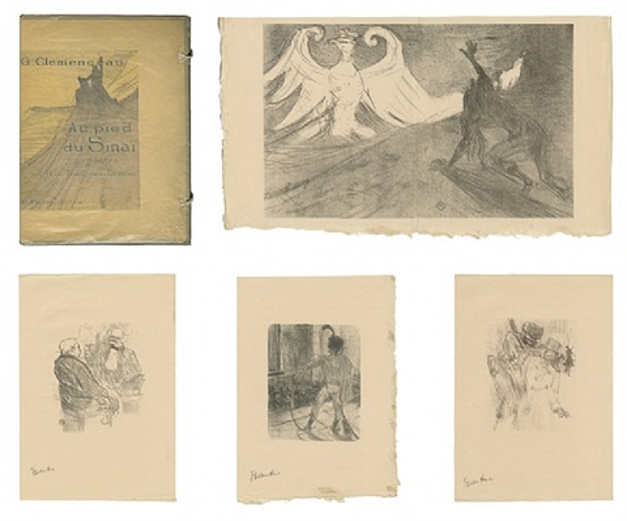 lautrec book: from au pied du sinai written by georges clemenceau by henri de toulouse-lautrec