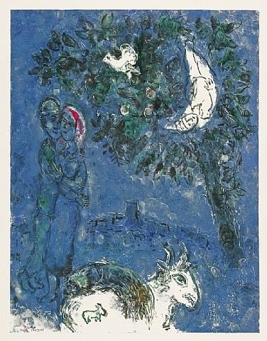 les paysans de saint-jeannet (die bauern von saint-jeannet) by marc chagall