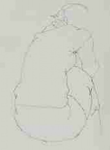 dos féminin - (weiblicher rückenakt) by eduardo chillida