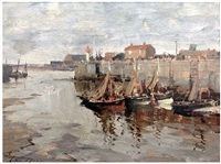 the outer harbour, honfleur by edward seago