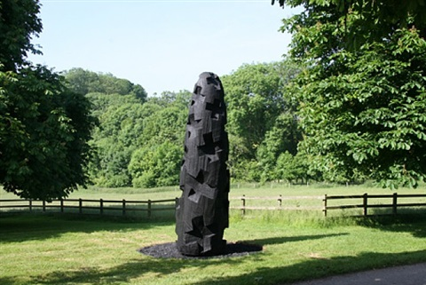 charred cross egg by david nash