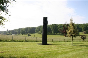 black flame column by david nash