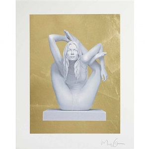 kate moss on gold by marc quinn