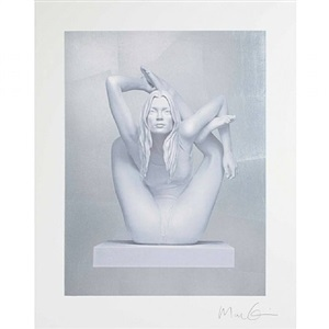 kate moss on silver by marc quinn