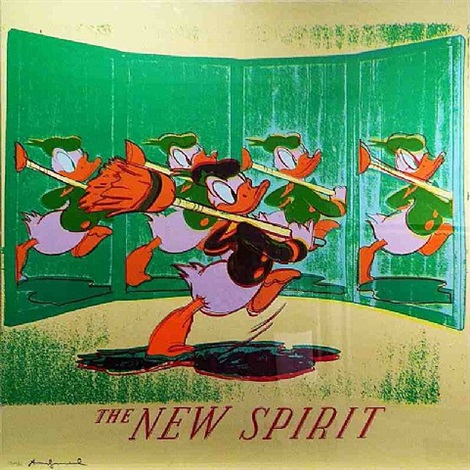 new spirit (donald duck) by andy warhol