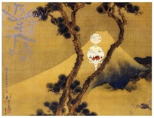 manji-fuji by takashi murakami