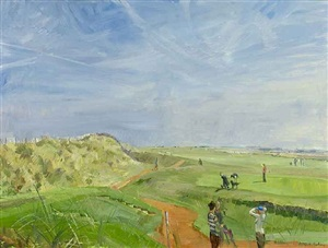 morning, brancaster golf course by nick botting