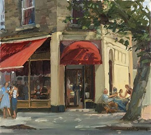 primrose hill, café scene by nick botting
