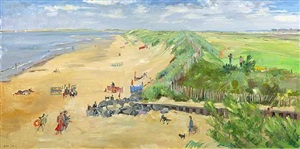 brancaster from the club house by nick botting