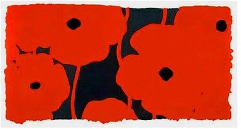 eight poppies by donald sultan
