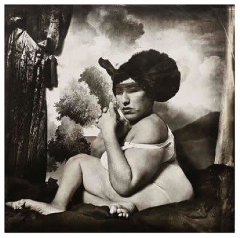 woman in blue hat by joel-peter witkin