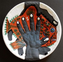 hands with fish by pablo picasso