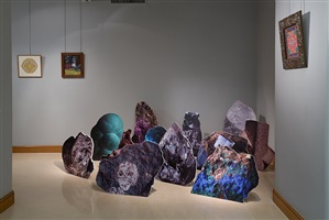 psychonautes, installation view, works by hugues reip and charles filiger