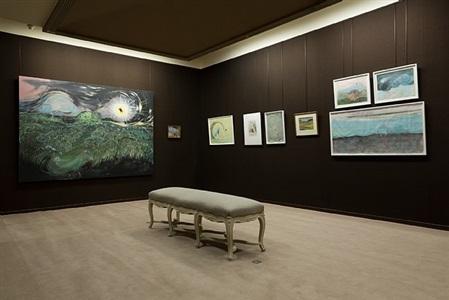 psychonautes, installation view, works by vidya gastaldon, charles filiger and odilon redon