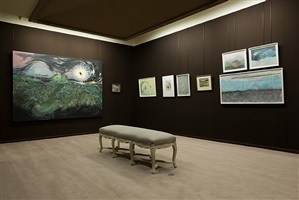 psychonautes, installation view, works by vidya gastaldon, charles filiger and odilon redon