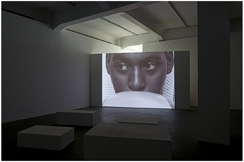 installation view galerie crone 2013 by marcel odenbach