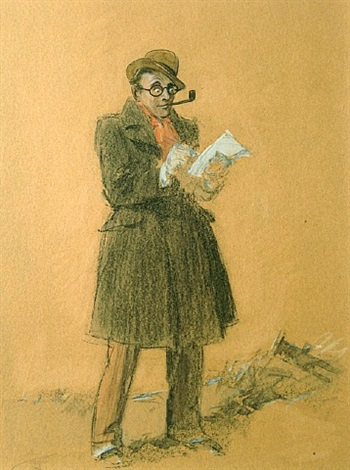 the reporter (self portrait) by everett shinn