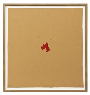 small fire (for ed ruscha) by walter dahn