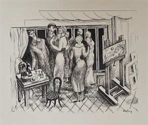 l'atelier de la rue joseph bara, montparnasse by moïse kisling