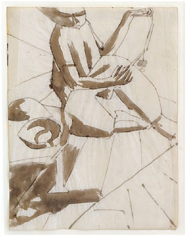 study for cameo corner by david bomberg