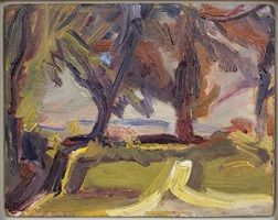 trees near talgwyn farm by david bomberg