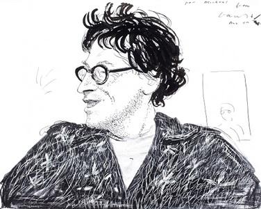 portrait of michael horovitz by david hockney