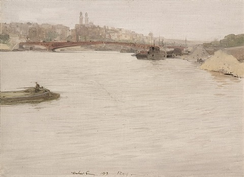 pont mirabeau, paris by herbert james gunn
