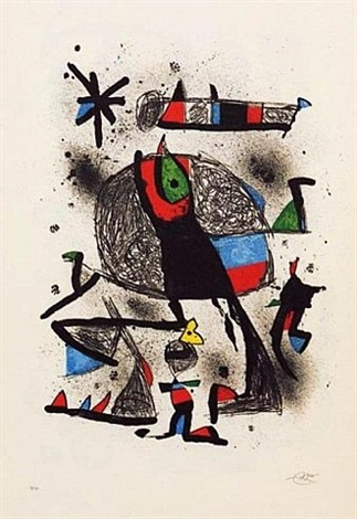 paysanne aux oiseaux by joan miró