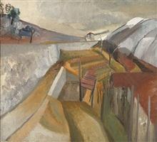 1923 (vineyard in winter) by ben nicholson